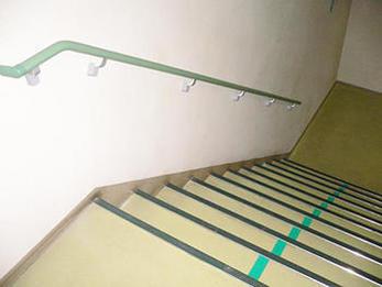 安全な社内づくりのお手伝い!階段手摺り設置リフォーム