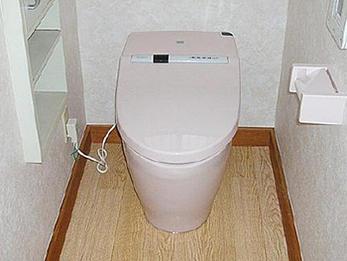 小便器をなくし手洗い場を設置し、導線のスムーズなトイレに